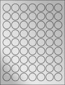 """Silver Foil 1"""" Circle"""