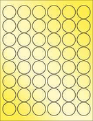 "Gold Foil 1.2"" Circle"