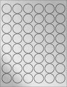 """Silver Foil 1.2"""" Circle"""