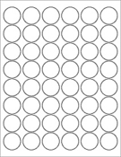"White Gloss 1.2"" Circle"