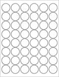 "Clear Gloss 1.2"" Circle"