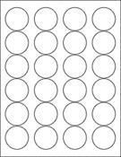 "Clear Gloss 1.67"" Circle"