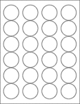 "White Gloss 1.67"" Circle"