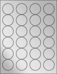 """Silver Foil 1.67"""" Circle"""