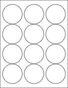 "White Gloss 2.5"" Circle"