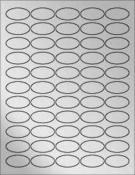 "Silver Foil 1.5""x.75"" Oval"