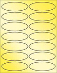 "Gold Foil 3.91""x1.325"" Oval"