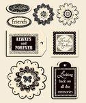 Antique Cream 3D Stickers