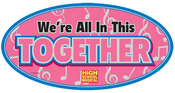 High School Musical Oval Prismatic Stickers