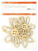 Button Flowers Wood Flourishes