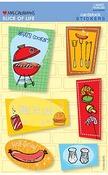 Slice Of Life BBQ - Mrs Grossman's Stickers