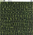 Green Day Glitter Alphabet CS Sticker