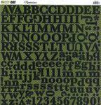 Green Day Glitter Alphabet CS Sticker