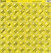Road Signs Yellow Word Signs Cardstock Sticker
