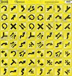 Road Signs Yellow Arrows CS Sticker