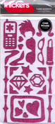 Tiara Taffy Accents Glitter Chipboard Thickers by American Crafts
