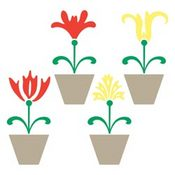Flower Pots Home Decor Vinyl