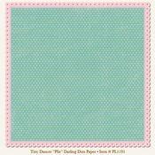 Plie Darling Dots Die-Cut 12x12 Paper - My Mind's Eye