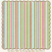 Ballet Free Flowing Stripe Die-Cut 12x12 Paper - My Mind's Eye