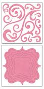 Blush Chunky Charms Swirls & Brackets by Bo Bunny