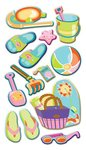 Let's Go To The Beach Puffy Stickers Sticko Stickers