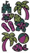 Palm Trees Glitter Stickers Sticko Stickers