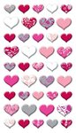 Lovely Hearts Puffy Stickers Sticko Stickers