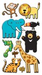 Zoo Puffy Stickers Sticko Stickers