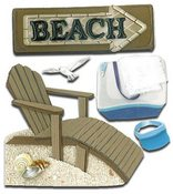 Beach House 3D  Stickers - Jolee's Boutique