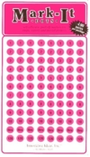 Numbered Pink Dots Labels (1-240)