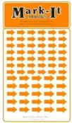 Assorted Orange Arrows Stickers, Mark-It