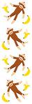 Sock Monkeys - Mrs Grossman's Stickers