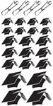Graduation Chipboard Hats Glitter Stickers