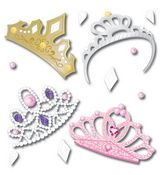 Four Tiaras 3D  Stickers - Jolee's Boutique