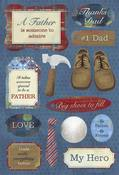 #1 Father Stickers Stickers by Karen Foster