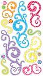 Birthday Swirls Sticko Stickers