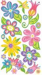 Small Faniciful Flowers Sticko Stickers