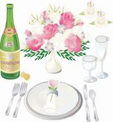 Wedding Table Setting 3D  Stickers - Jolee's Boutique