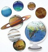 The Globe & Planets 3D  Stickers - Jolee's Boutique