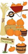 Pumpkin Patch 3D  Stickers - Jolee's Boutique