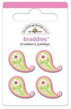 Strawberry Paisleys Braddies by Doodlebug