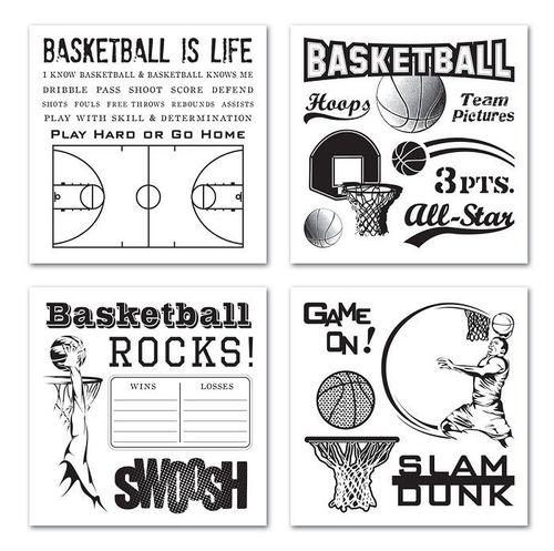 Swoosh Basketball Rub-Ons Swatchpack