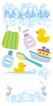 Bath Time Lg 3D Sticker