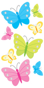 Butterflies & Rhinestones Stickers