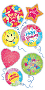 Balloons Lg 3D Stickers - Sandylion