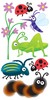 Bugs Lg 3D Stickers - Sandylion