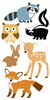 Woodland Animals Lg 3D Stickers - Sandylion