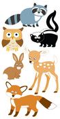 Woodland Animals Lg 3D Stickers - Sandylion