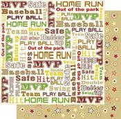 Play Ball Words  Glitter Paper