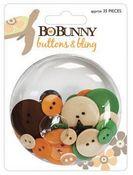 Mango Luau Buttons & Bling by Bo Bunny